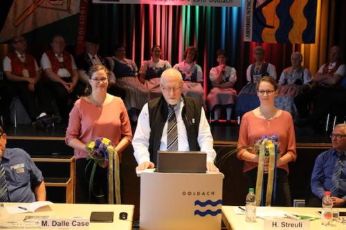 Präsident ASV Goldach Fritz Brülisauer